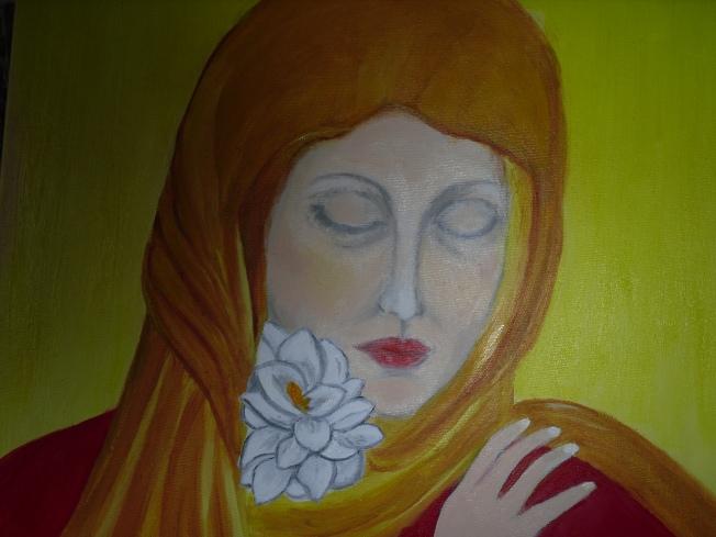 La donna del fiore bianco
