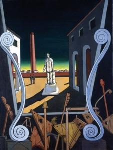 G. De Chirico, Monumento al poeta, Piazze d' Italia