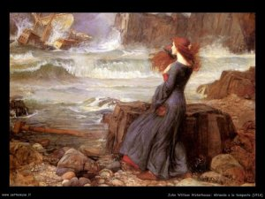 William Waterhouse, Miranda e la tempesta 1936