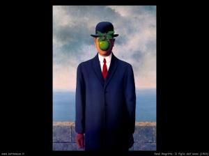 R. Magritte, Figlio dell' uomo 1964