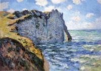 Claude Monet, La scogliera di Aval 1885